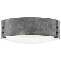 Hinkley 29203DZ Sawyer 3 Light 15 inch Aged Zinc Outdoor Flush Mount in Incandescent, Open Air