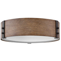 Sawyer 3 Light 15 inch Sequoia Outdoor Flush Mount, Open Air