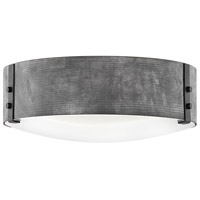 Hinkley 29203DZ-LL Sawyer LED 15 inch Aged Zinc/Distressed Black Outdoor Ceiling Light, Open Air