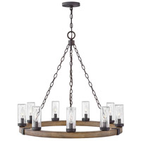 Hinkley 29208SQ Sawyer 9 Light 30 inch Sequoia Outdoor Chandelier