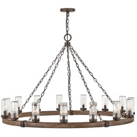 Hinkley 29209SQ Sawyer 15 Light 46 inch Sequoia with Iron Rust Outdoor Hanging Light, Open Air