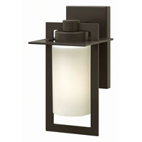 Hinkley 2920BZ-GU24 Colfax 1 Light 12 inch Bronze Outdoor Wall in Etched Seedy, GU24, Etched Opal Glass photo thumbnail