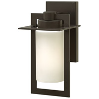 Colfax LED 12 inch Bronze Outdoor Wall Mount in Etched Opal, Etched Opal Glass