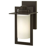Hinkley 2920BZ Colfax 1 Light 12 inch Bronze Outdoor Wall Mount in Incandescent, Etched Opal Glass