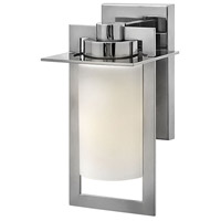 Hinkley 2920PS Colfax 1 Light 12 inch Polished Stainless Steel Outdoor Wall Mount in Incandescent, Etched Opal Glass
