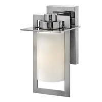 Hinkley Lighting Colfax 1 Light Outdoor Wall Lantern in Polished Stainless Steel with Etched Opal Glass 2920PS-LED