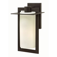 Hinkley 2924BZ-GU24 Colfax 1 Light 15 inch Bronze Outdoor Wall in Etched Seedy, GU24, Etched Opal Glass