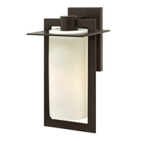 Colfax LED 15 inch Bronze Outdoor Wall Mount in Etched Opal, Etched Opal Glass