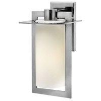 Hinkley 2924PS Colfax 1 Light 15 inch Polished Stainless Steel Outdoor Wall Mount in Incandescent Etched Opal Glass