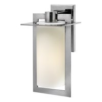 Colfax 1 Light 15 inch Polished Stainless Steel Outdoor Wall Lantern in Etched Opal, LED, Etched Opal Glass