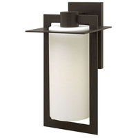 Hinkley 2925BZ Colfax 1 Light 19 inch Bronze Outdoor Wall Mount in Etched Opal, Incandescent, Etched Opal Glass