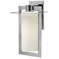 Hinkley 2925PS Colfax 1 Light 19 inch Polished Stainless Steel Outdoor Wall Mount in Incandescent, Etched Opal Glass