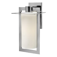 Hinkley Lighting Colfax 1 Light Outdoor Wall Lantern in Polished Stainless Steel with Etched Opal Glass 2925PS-LED