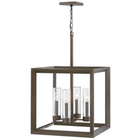Rhodes 4 Light 18 inch Warm Bronze Outdoor Chandelier, Open Air