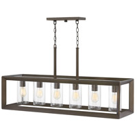 Rhodes 6 Light 42 inch Warm Bronze Outdoor Linear