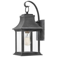 Hinkley 2930DZ Adair 1 Light 17 inch Aged Zinc Outdoor Wall Mount, Heritage