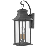 Hinkley 2934DZ Adair 2 Light 20 inch Aged Zinc Outdoor Wall Mount in Incandescent, Heritage