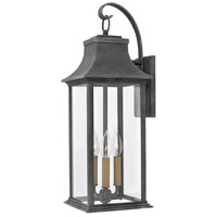 Hinkley 2935DZ Adair 3 Light 25 inch Aged Zinc Outdoor Wall Mount in Incandescent, Heritage