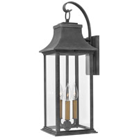 Hinkley 2935DZ-LL Heritage Adair LED 25 inch Aged Zinc/Heritage Brass Outdoor Wall Mount