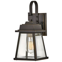 Hinkley 2940OZ Bainbridge 1 Light 14 inch Oil Rubbed Bronze with Heritage Brass Outdoor Wall Mount
