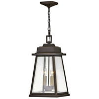 Hinkley 2942OZ Bainbridge 2 Light 10 inch Oil Rubbed Bronze with Heritage Brass Outdoor Hanging Light