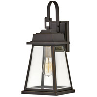 Hinkley 2944OZ Bainbridge 1 Light 19 inch Oil Rubbed Bronze with Heritage Brass Outdoor Wall Mount