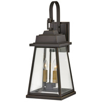 Hinkley 2945OZ Bainbridge 2 Light 25 inch Oil Rubbed Bronze with Heritage Brass Outdoor Wall Mount