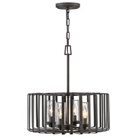Reid 4 Light 20 inch Brushed Graphite Outdoor Chandelier