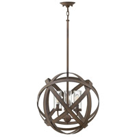 Hinkley 29703VI Carson 3 Light 19 inch Vintage Iron Outdoor Chandelier, Open Air