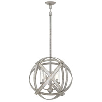 Hinkley 29703WZ Carson 3 Light 19 inch Weathered Zinc Outdoor Chandelier, Open Air