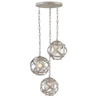 Hinkley 29704WZ Carson 3 Light 21 inch Weathered Zinc Outdoor Pendant Open Air
