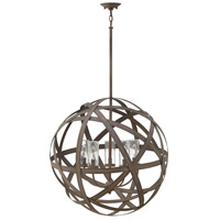 Hinkley 29705VI Carson 5 Light 27 inch Vintage Iron Outdoor Chandelier, Open Air