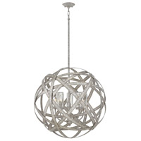 Carson 5 Light 27 inch Weathered Zinc Outdoor Chandelier