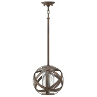 Carson 1 Light 10 inch Vintage Iron Outdoor Pendant