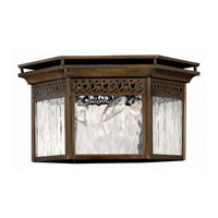 Hinkley Lighting Westwinds 3 Light Outdoor Flush Lantern in Sienna 2999SN photo thumbnail