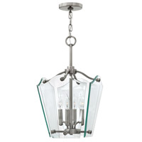 Hinkley 3000PL Wingate 4 Light 12 inch Polished Antique Nickel Hanging Foyer Ceiling Light
