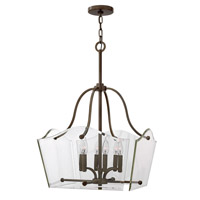Hinkley 3004OZ Wingate 6 Light 2 inch Oil Rubbed Bronze Chandelier Ceiling Light, Clear Beveled Glass