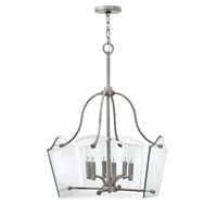 Hinkley 3004PL Wingate 6 Light 20 inch Polished Antique Nickel Chandelier Ceiling Light