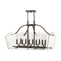 Wingate 6 Light 32 inch Oil Rubbed Bronze Foyer Pendant Ceiling Light, Clear Beveled Glass