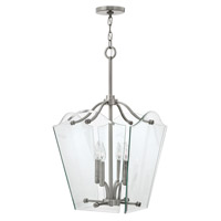 Hinkley 3006PL Wingate 4 Light 16 inch Polished Antique Nickel Hanging Foyer Ceiling Light