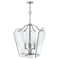 Hinkley 3008PL Wingate 6 Light 20 inch Polished Antique Nickel Hanging Foyer Ceiling Light photo thumbnail