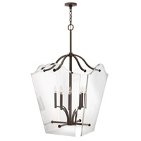 Wingate 8 Light 26 inch Oil Rubbed Bronze Foyer Pendant Ceiling Light, Clear Beveled Glass