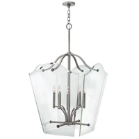 Hinkley 3009PL Wingate 8 Light 26 inch Polished Antique Nickel Foyer Pendant Ceiling Light, Clear Beveled Glass