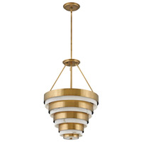 Hinkley 30184HB Lisa McDennon Echelon 8 Light 18 inch Heritage Brass Chandelier Ceiling Light
