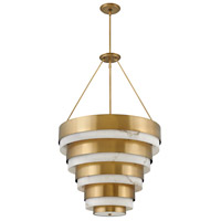 Hinkley 30188HB Lisa McDennon Echelon 4 Light 27 inch Heritage Brass Chandelier Ceiling Light