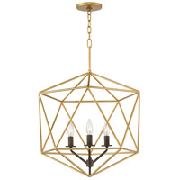 Astrid 3 Light 20 inch Deluxe Gold Pendant Ceiling Light