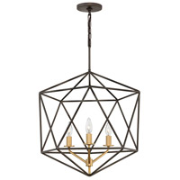 Astrid 3 Light 20 inch Metallic Matte Bronze Chandelier Ceiling Light