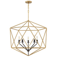 Astrid 6 Light 28 inch Deluxe Gold Chandelier Ceiling Light