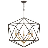 Astrid 6 Light 28 inch Metallic Matte Bronze Chandelier Ceiling Light