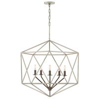 Hinkley 3025GG Astrid 5 Light 28 inch Glacial/Metallic Matte Bronze Chandelier Ceiling Light